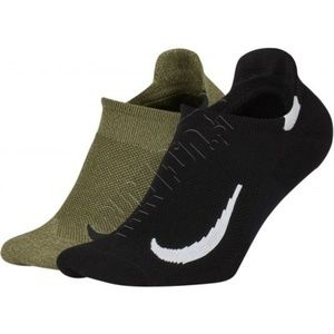 Nike Multiplier Ankle Socks Set of 2 Black / Army